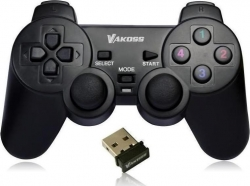 Gamepad PC Vacoss GP-3925BK Vibration Dual Shock Funktion Force Feedback
