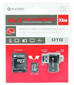 PLATINET 4 in 1 micro SDHC 32GB